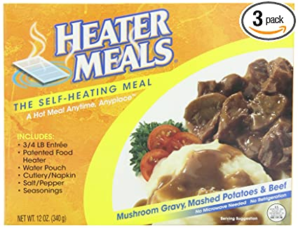 Heater Meals 3 Heater Meals Beef Mashed