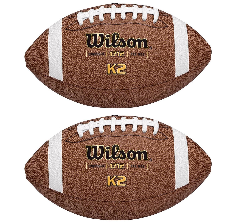 (2) Wilson K2Pee-Wee Größe weich Composite Leder Spiel Sport Fußbälle | wtf1712
