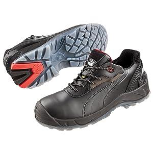 Puma Safety Sicherheitsschuhe S3 ESD SRC Pioneer Low 64.052.0 schwarz  Schuhe & HandtaschenBewertungen