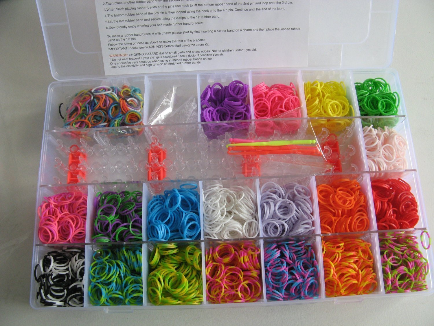 Loom Bänder Set & Clips Collection mit
