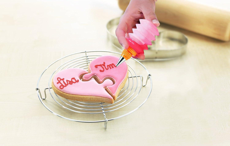 Moldes para galletas en caja regalo, diseño de corazón