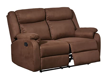 Global Furniture Reclining Loveseat, Chocolate