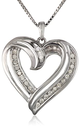 Sterling-Silver-1-4cttw-Diamond-Heart-Pendant-Necklace-18-