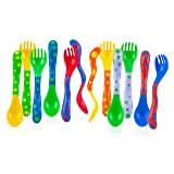 Nuby 4-Pack Spoons and Forks (2 Each), Colors May Vary