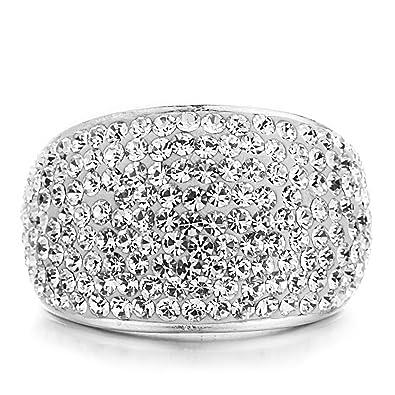 INFINITY 6 mm COEUR pierre porte-bonheur Zircone Cubique Véritable Argent Sterling Ring