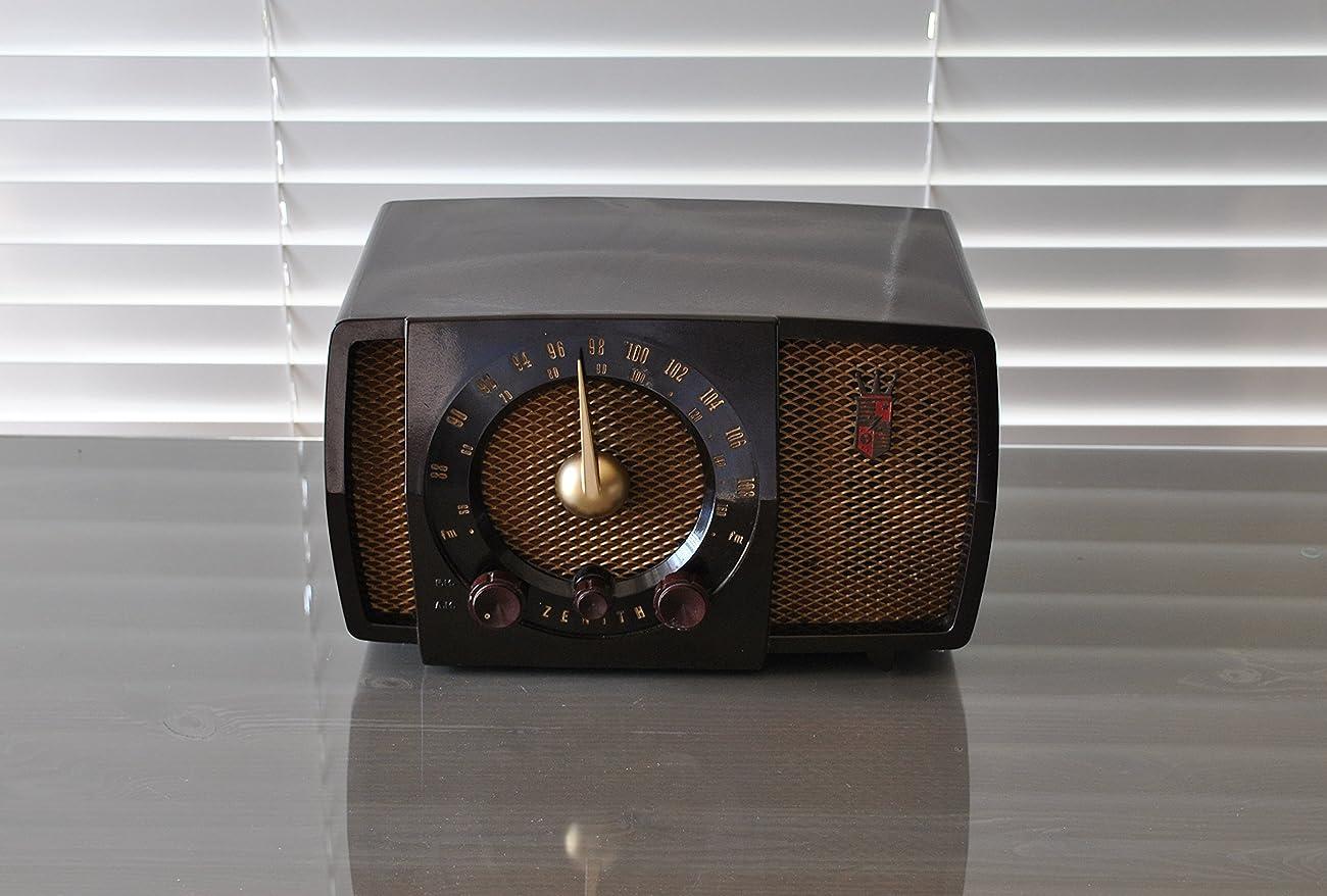 Working Antique 1951 Zenith AM & FM Radio Model H723Z 1