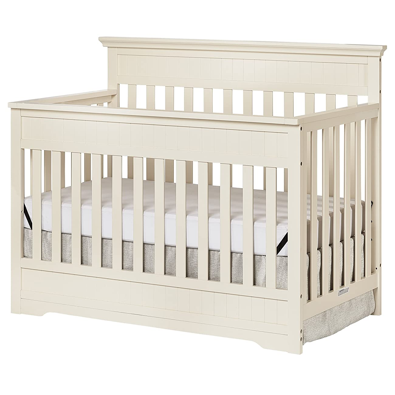Dream On Me Chesapeake 5-In-1 Convertible Crib, French White 1