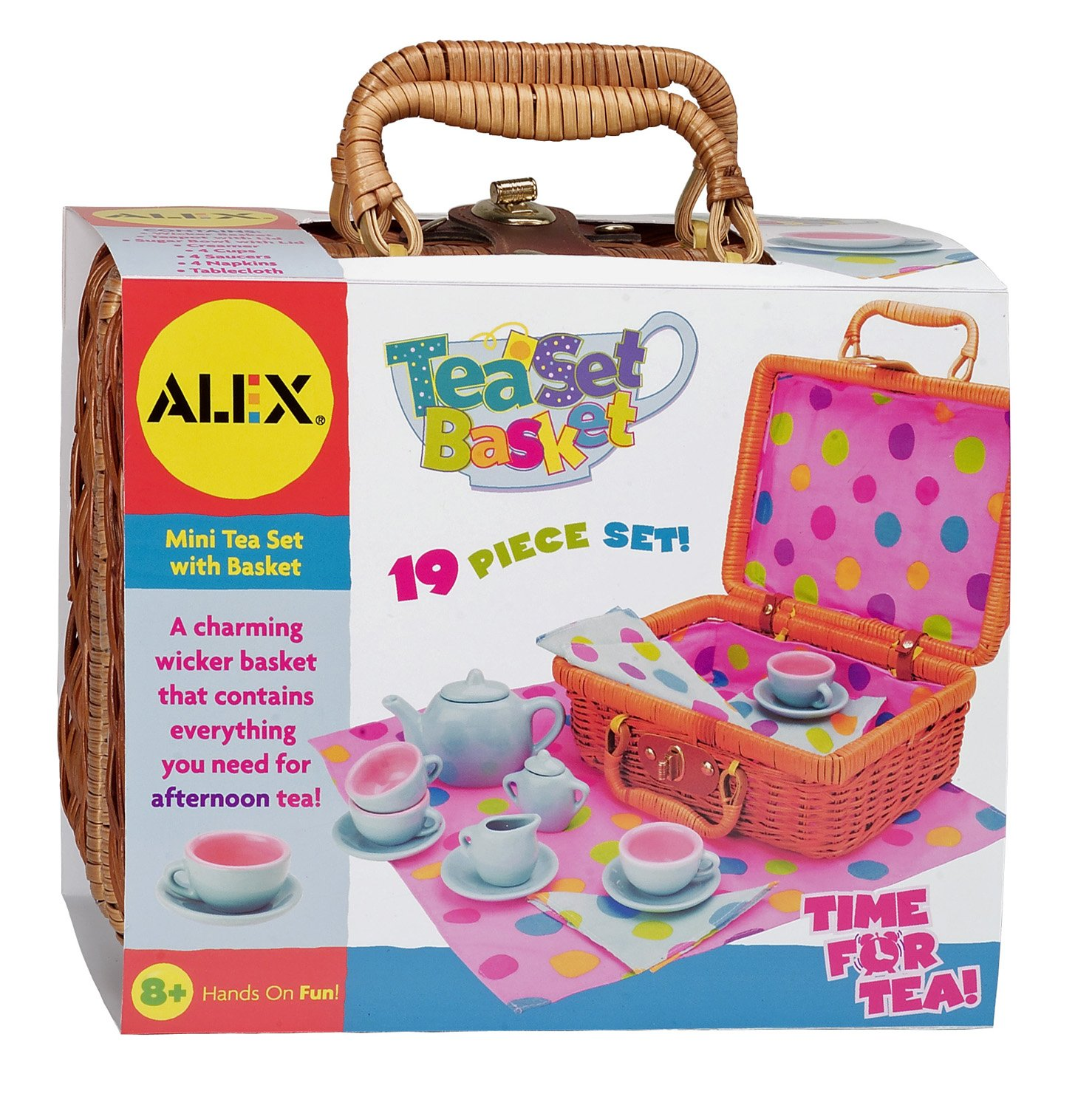 Pretend & Play Tea Set Basket