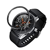 BaiHui Compatible Galaxy Watch Bezel Ring 46mm / Galaxy Gear S3 Frontier & Classic Bezel Ring,Stainless Steel Bezel Ring Protection Cover for Galaxy Watch Accessory (07-Black) (Color: 07-Black)