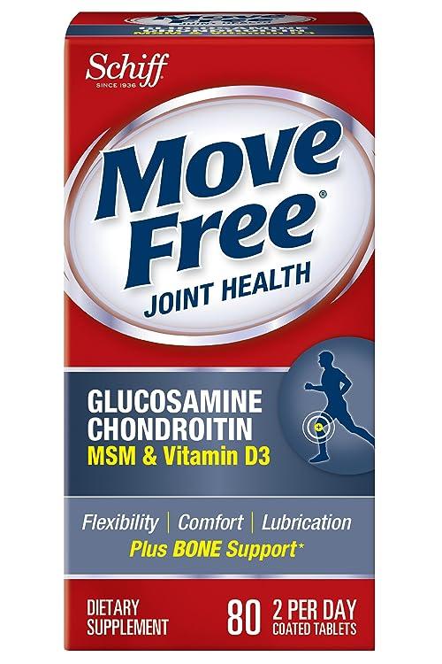 凑单品:Schiff 维骨力 Move Free 氨基葡萄糖 关节养护素 (维骨力)MSM&VD3款 80粒