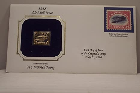 Gold Replicas of United States Stamps Gold Stamp Replica 1918 Air