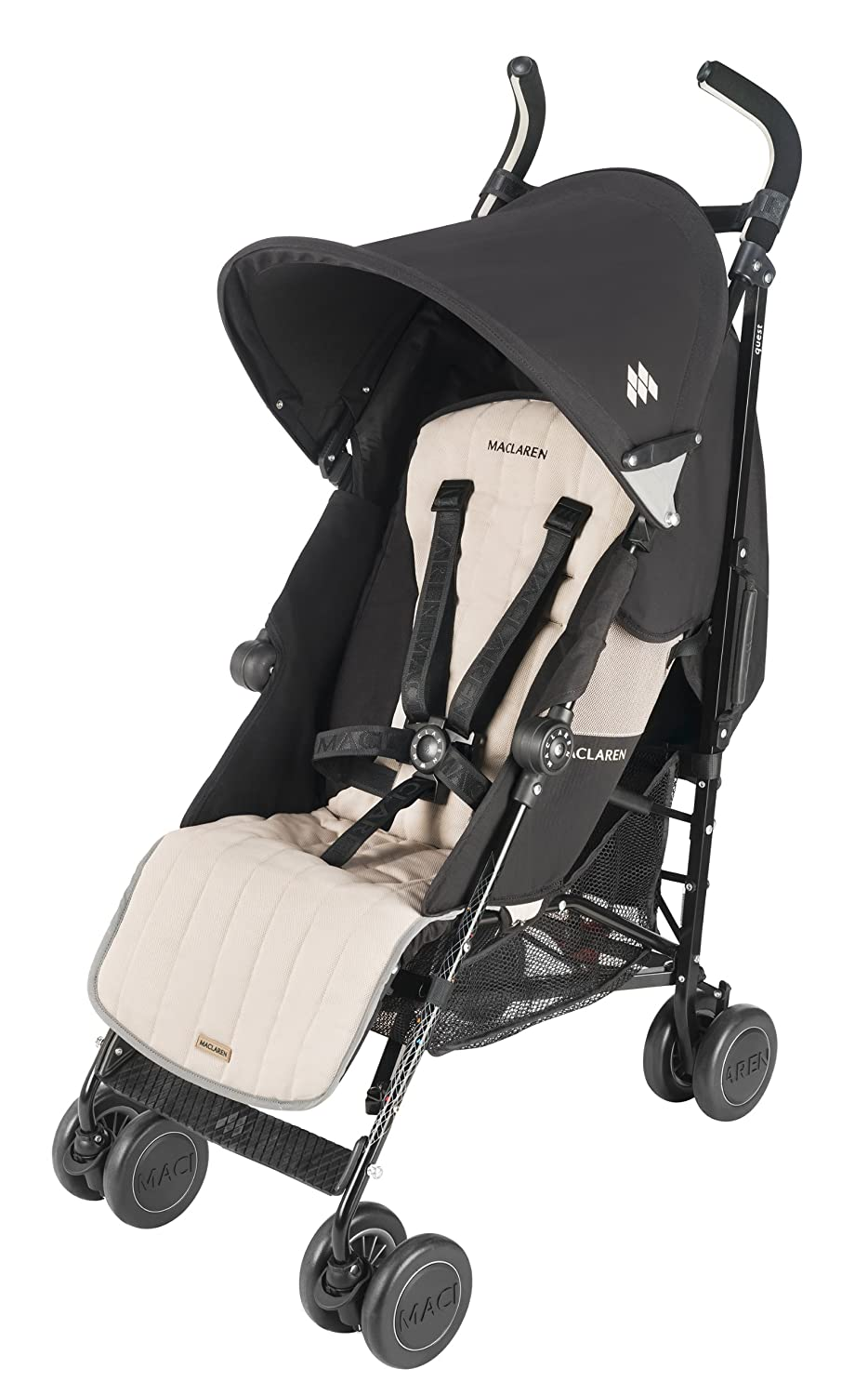 Maclaren Quest Sport Baby Stroller with Raincover - Black/Champagne at Sears.com