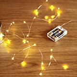 GardenDecor Led String Lights 50 Leds Decorative Fairy Battery Powered String Lights, Copper Wire light for Bedroom,Wedding(16ft/5m Warm White) (Color: warm white)