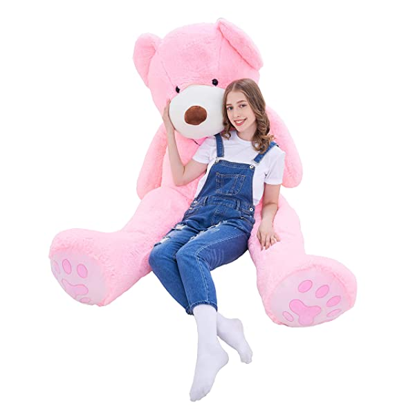 IKASA Giant Teddy Bear Plush Toy Stuffed Animals 6.5 Foot (Pink, 78 inches) (Color: Pink, Tamaño: 78 inches)