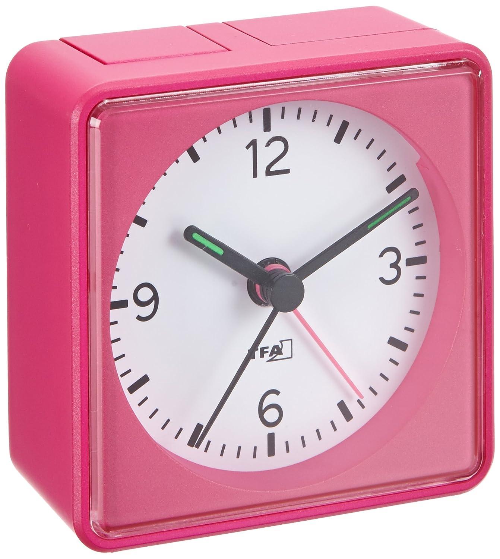 Lautlos-Wecker TFA Push Pink Sweep-Uhrwerk ohne Ticken bestellen