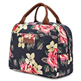 LOKASS Lunch Bag Cooler Bag Women Tote Bag Insulated Lunch Box Water-resistant Thermal Lunch Bag Soft Leak Proof Liner Lunch Bags for women/Picnic/Boating/Beach/Fishing/Work (Peony) (Color: Blue, Tamaño: Peony)