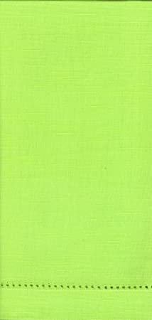Lime Green Hemstitch 12-piece Dinner Napkin Set by Something Different Linen