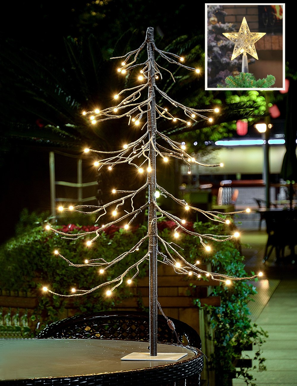 christmas tree lighted yard displays christmas wikii - White Wire Christmas Tree