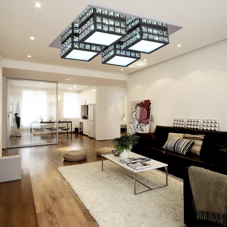 OOFAY LIGHT® einfache und graziöse LED 4 Stücke-Kristall-Deckenlampe ...