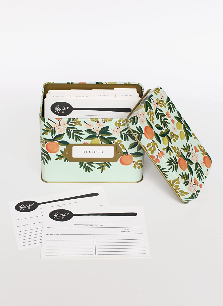 Rifle Paper Co. Recipe Box - Citrus Floral 1