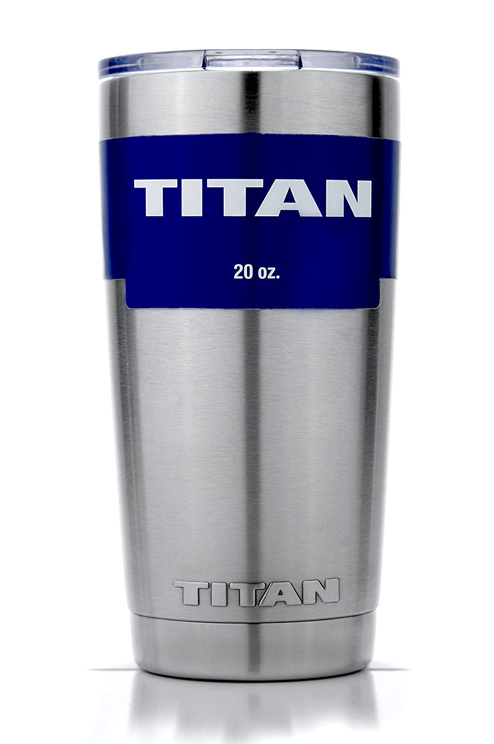 TITAN 20 oz. Premium Grade Stainless Steel Double Wall Vacuum Insulated Travel Tumbler Cup - Keeps COLD & HOT