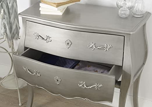 Commode MURANO argent new silver 2T - AMADEUS
