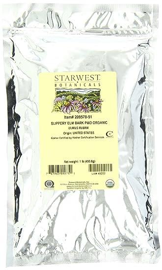 Отзывы Starwest Botanicals Organic Slippery Elm Bark Powder