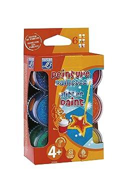 Lefranc et bourgeois 200668 assortiment gouache pailletee 6 pots pots de 22ml - Peinture pailletee avis ...