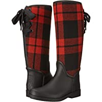 Coach Tristee Signature C Women's Rubber Rain Boots (Black/Bright Plaid)