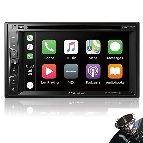 Pioneer AVH-1500NEX Multimedia DVD Receiver with 6.2 WVGA Display with Apple CarPlay, Bluetooth, and SiriusXM-Ready + Magnet
