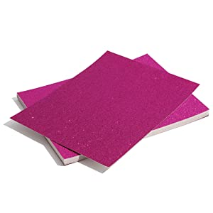 Bright Creations Glitter Cardstock Paper 24 Pack - DIY Glitter Craft Paper Dark Pink - 11 x 8.5 inches (Color: Dark Pink)