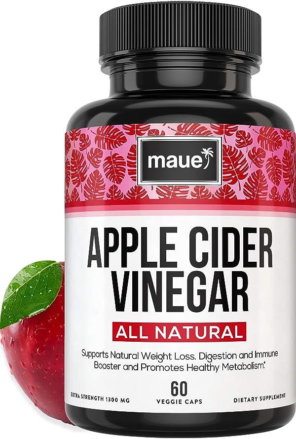 Extra-Strength Apple Cider Vinegar Capsules 1300mg | 100% Natural