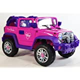 Ride on car for girl JEEP pink electric vehicle power wheels for driving the level road, and for driving in the countryside, driving country roads, for off road driving. RC+12V.total+MP3+Engine sound. (Color: Pink)