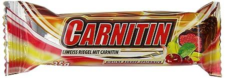 Ironmaxx Carnitin Riegel Kirsche Banane, 24 x 35g, 1er Pack (1 x 840 g)