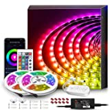 WiFi Wireless Alexa-Enabled Smart LED Strip Lights with Remote, Smart Phone Controlled Color Changing 5050 RGB LED Strip Tape Lights(32.8Ft WiFi+Remote Control) (Color: Multicolor, Tamaño: 32.8Ft WiFi+Remote Control)