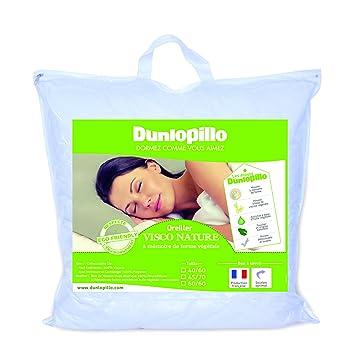 Dunlopillo Visco Nature Oreiller Blanc 45 x 70 cm