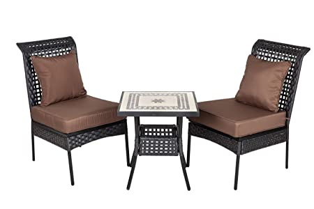 Patio Sense Sonoran 3-Piece All Weather Wicker Bistro Set