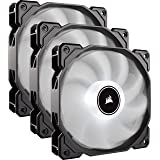 CORSAIR AF120 LED Low Noise Cooling Fan Triple Pack - White Cooling CO-9050082-WW (Color: White, Tamaño: 120 mm)