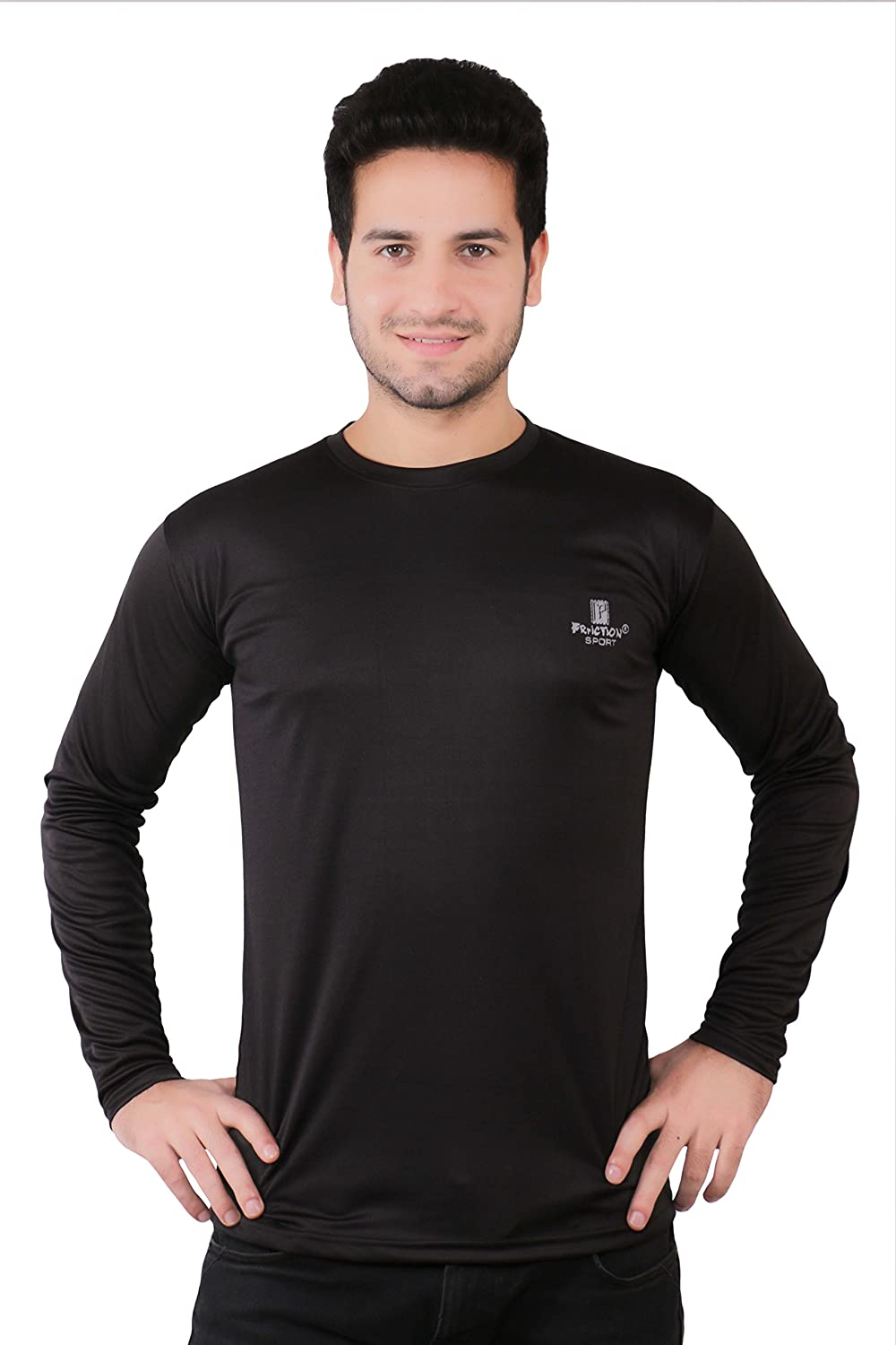 Black t shirt sports - Friction Men S Sports Black Full Sleeve T Shirt Inner Amazon In Clothing Accessories
