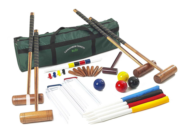 Garden Games 2107 – Longworth Familie Kroquet Set für 4 Spieler in einer praktischen Tragetasche jetzt kaufen