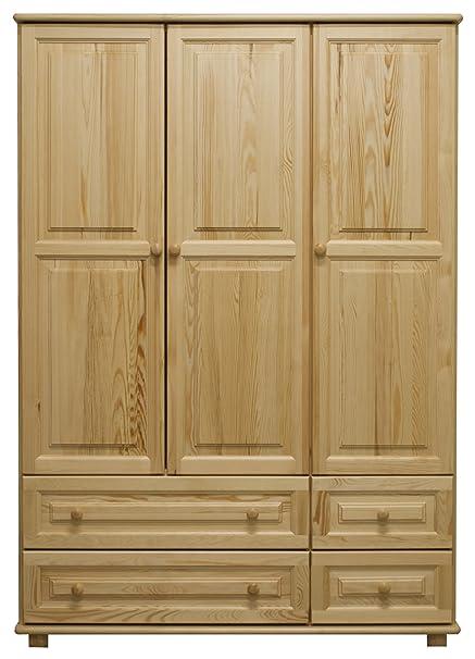 Kleiderschrank Holz natur 017 - Abmessung 190 x 120 x 60 cm (H x B x T)