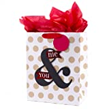 Hallmark Large Valentine's Day or Anniversary Gift Bag with Tissue Paper (You & Me On Dots)