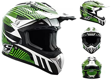 SOXON SX-419 Speed gras - vert moto cross enduro quad Int_gral Taille: XS S M L XL
