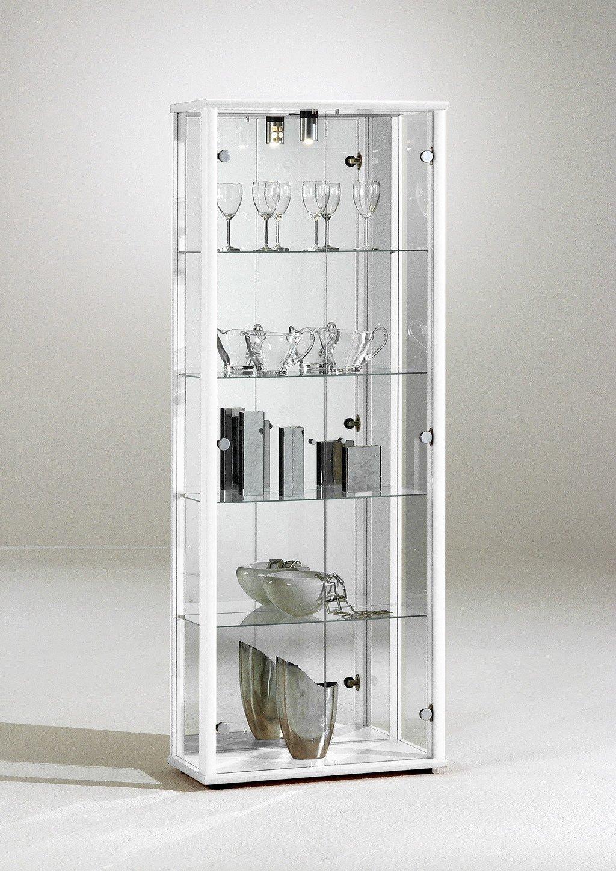 standvitrine glasvitrine sammlervitrine spiegel beleuchtung vitrine weiss bewertungen. Black Bedroom Furniture Sets. Home Design Ideas