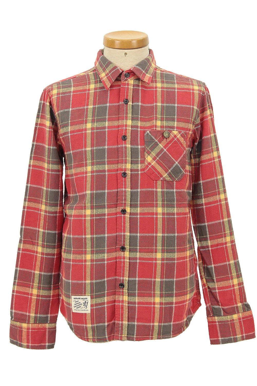Amazon.co.jp: (ジャングルストーム) JUNGLE STORM チェックシャツ メンズ 長袖 チェック シャツ フランネル 厚手 ネルシャツ: 服&ファッション小物通販