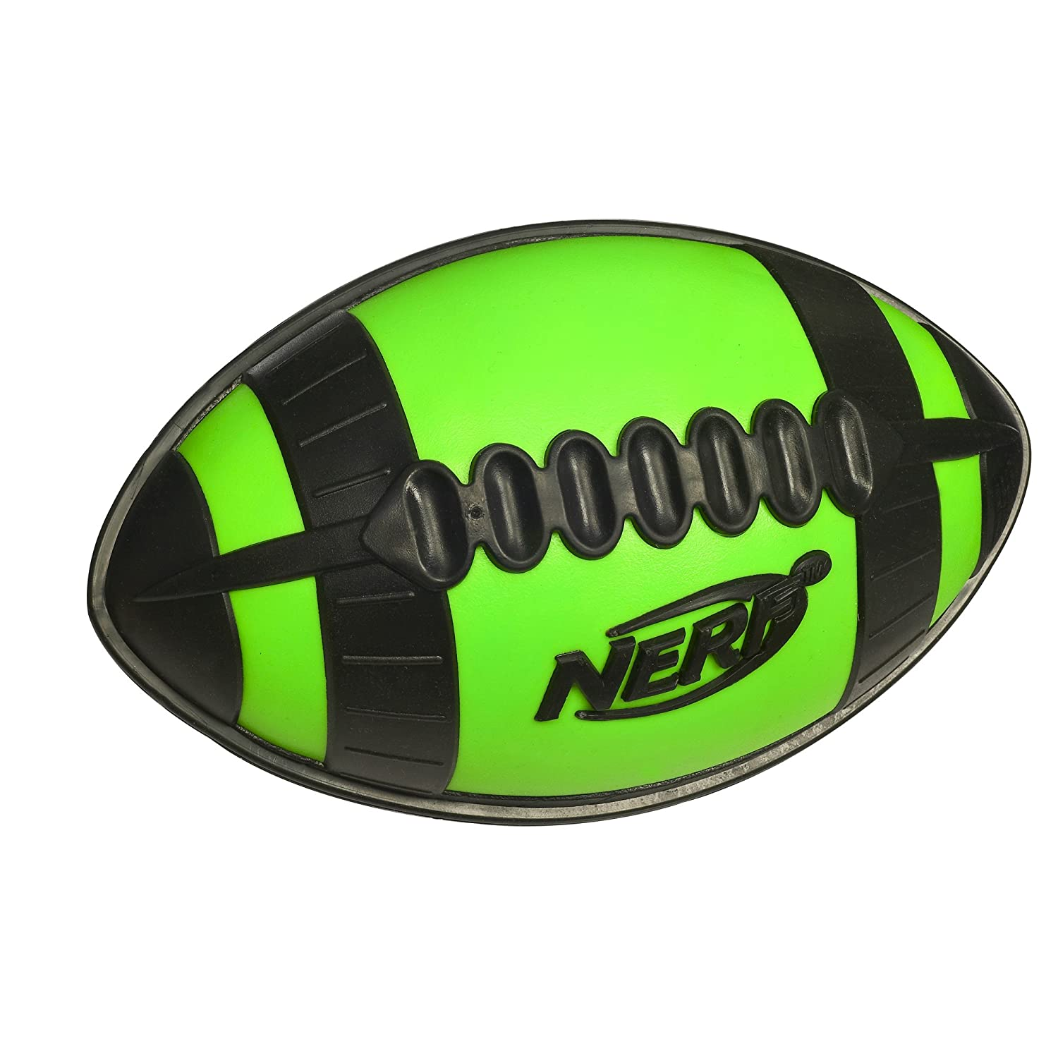 NERF - N SPORTS - Weather Blitz - All-Conditions Youth FOOTBALL - Allwetter Junior Football - grün/schwarz ca. 25cm