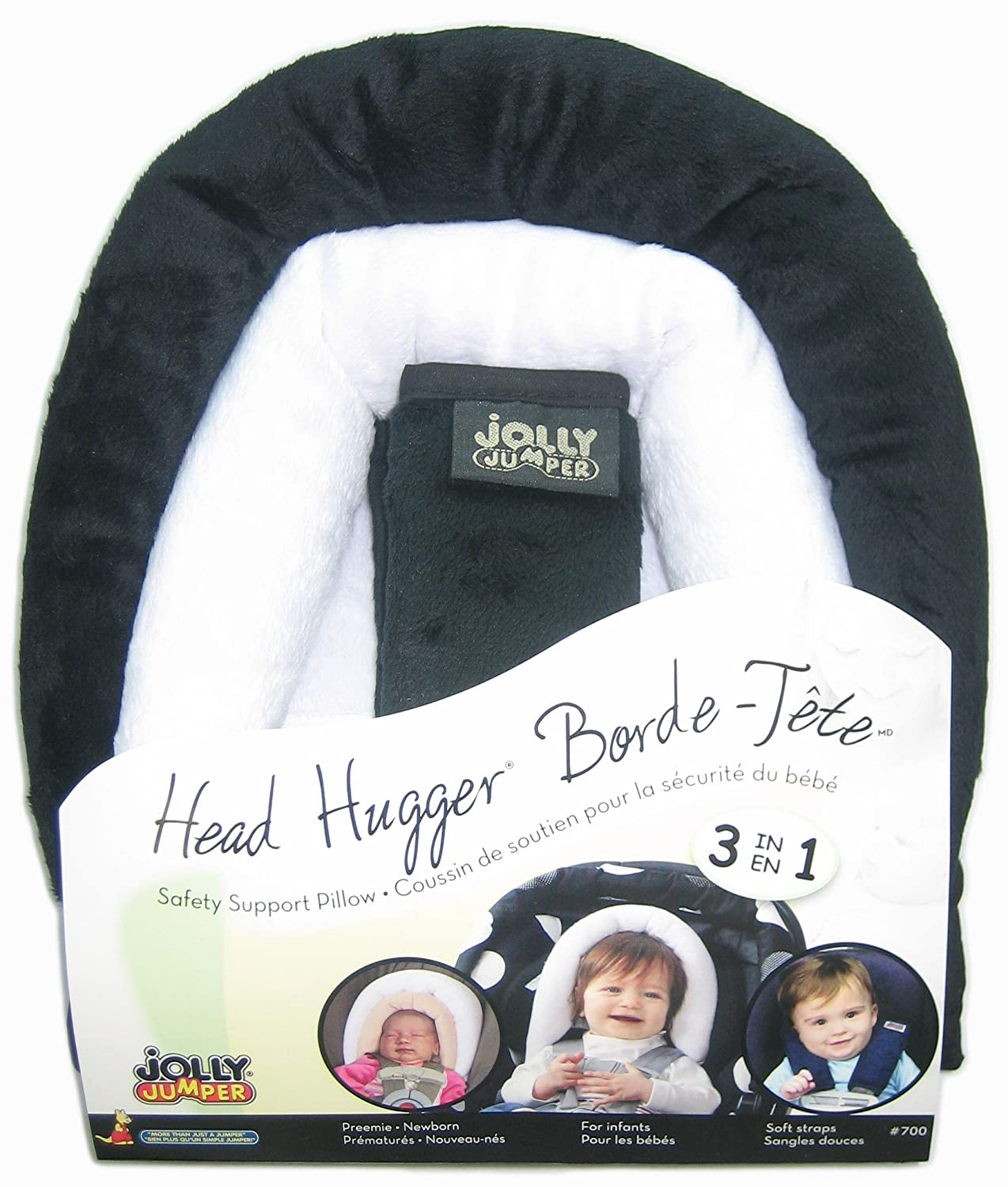 Jolly Jumper Head Hugger Baby Head Support 3 in 1 Pillow - Black