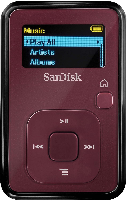Comparer SANDISK SANSA CLIP PLUS SDMX18 ROUGE 4GO
