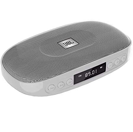 JBL Tune (SILVER) Wireless Bluetooth Speaker with SD Card reader / FM and built-in microphone at amazon