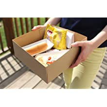 "Southern Champion Tray 0121 Kraft Paperboard 4 Corner Pop Up Food and Drink Stadium Tray, 10-1/2"" Length x 10-1/2"" Width x 3-11/16"" Height (Case of 200)"